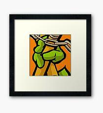 Lichtenstein Pop Martial Art Quelonians   Orange Framed Print