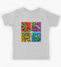 Lichtenstein Pop Martial Art Quelonians Full Set Kids Tee