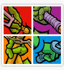 Lichtenstein Pop Martial Art Quelonians Full Set Sticker