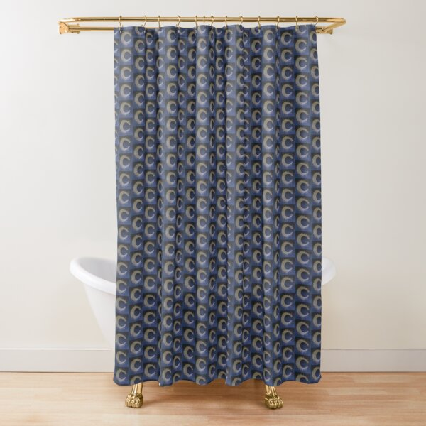 calligraphy of the text tribute to the moon. Shower Curtain