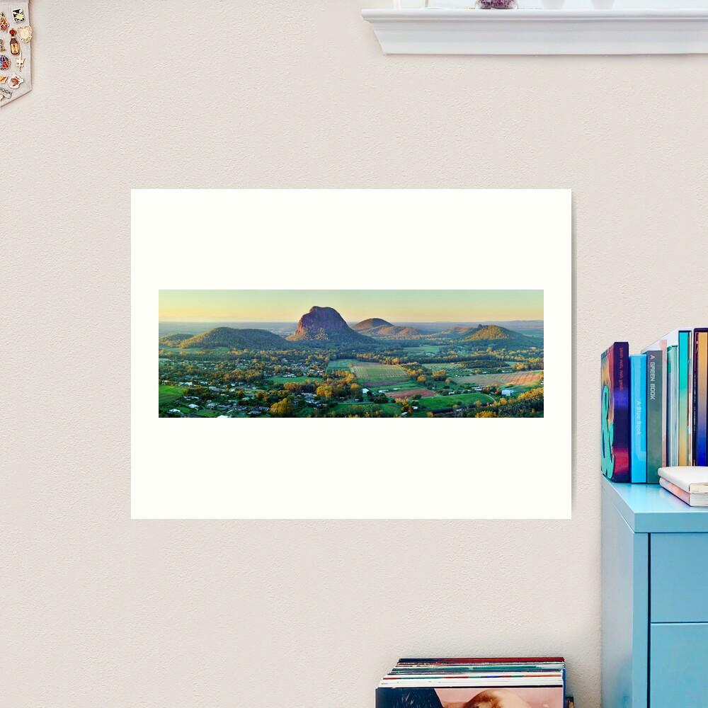 Glasshouse Mountains, Queensland, Australia Art Print