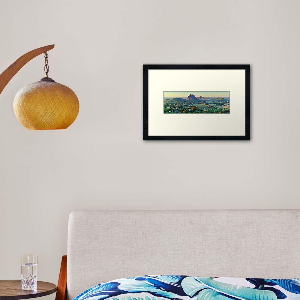 Glasshouse Mountains, Queensland, Australia Framed Art Print