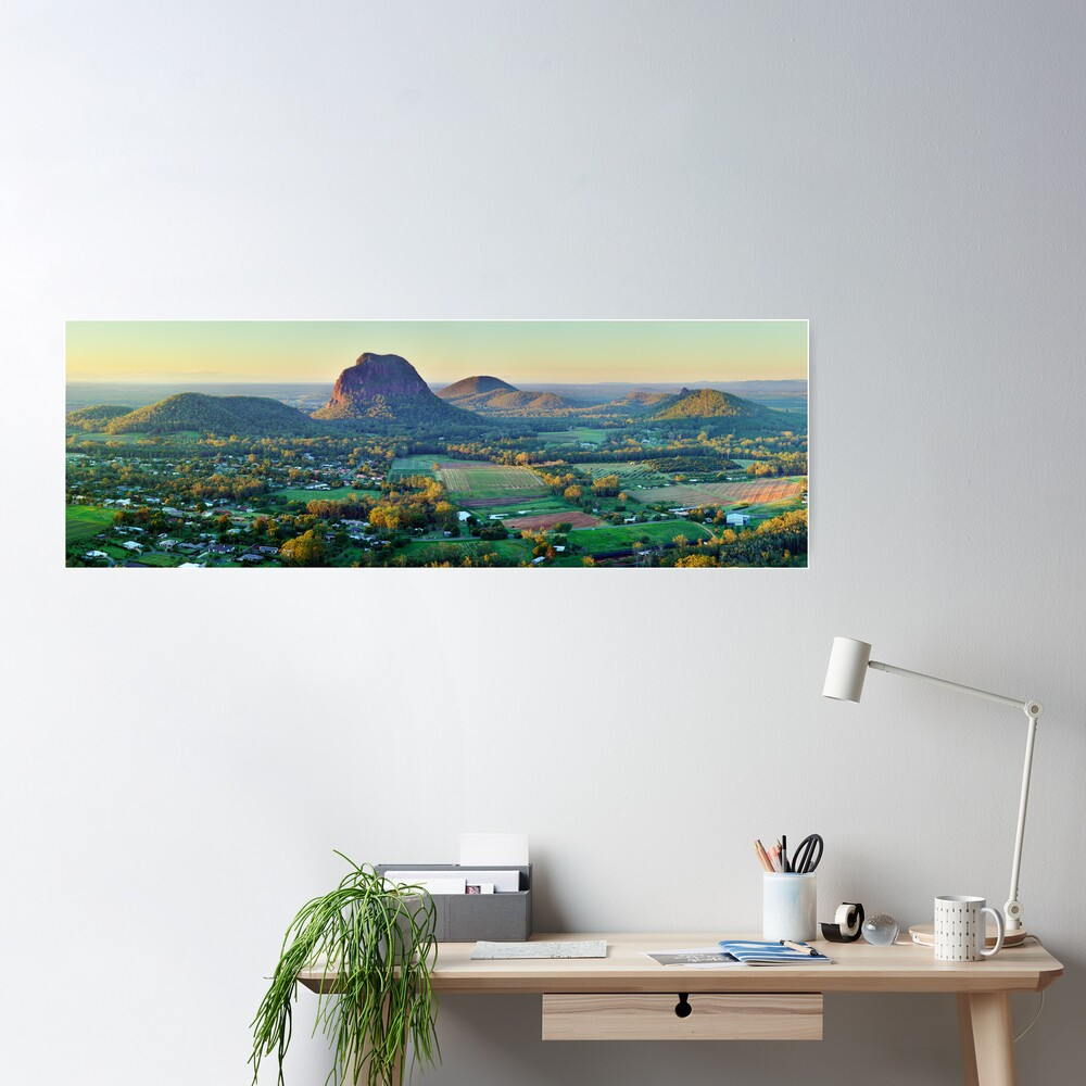 Glasshouse Mountains, Queensland, Australia Poster