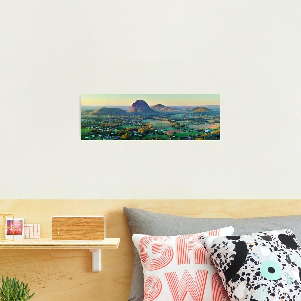 Glasshouse Mountains, Queensland, Australia Photographic Print