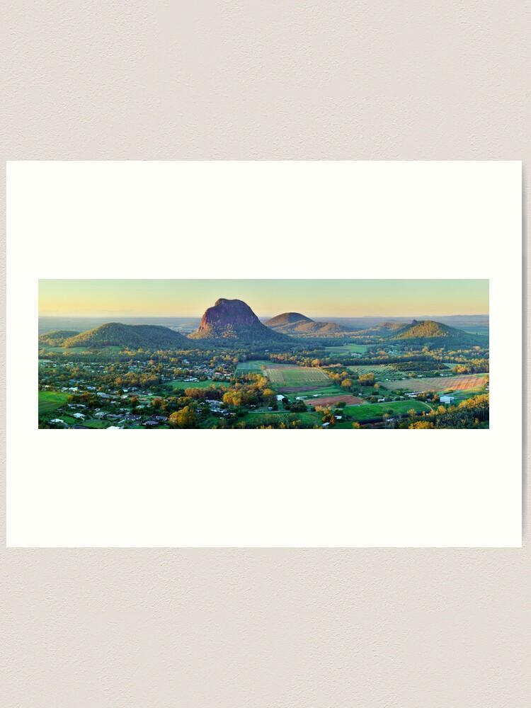 Alternate view of Glasshouse Mountains, Queensland, Australia Art Print