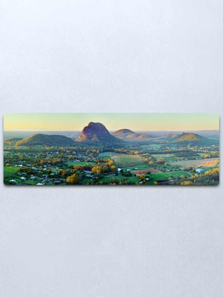 Alternate view of Glasshouse Mountains, Queensland, Australia Metal Print