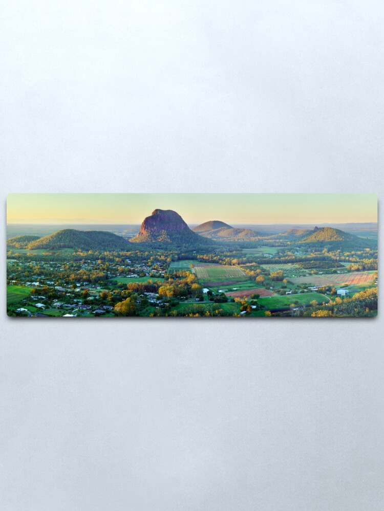Alternate view of Glasshouse Mountains, Queensland, Australia Metal Print