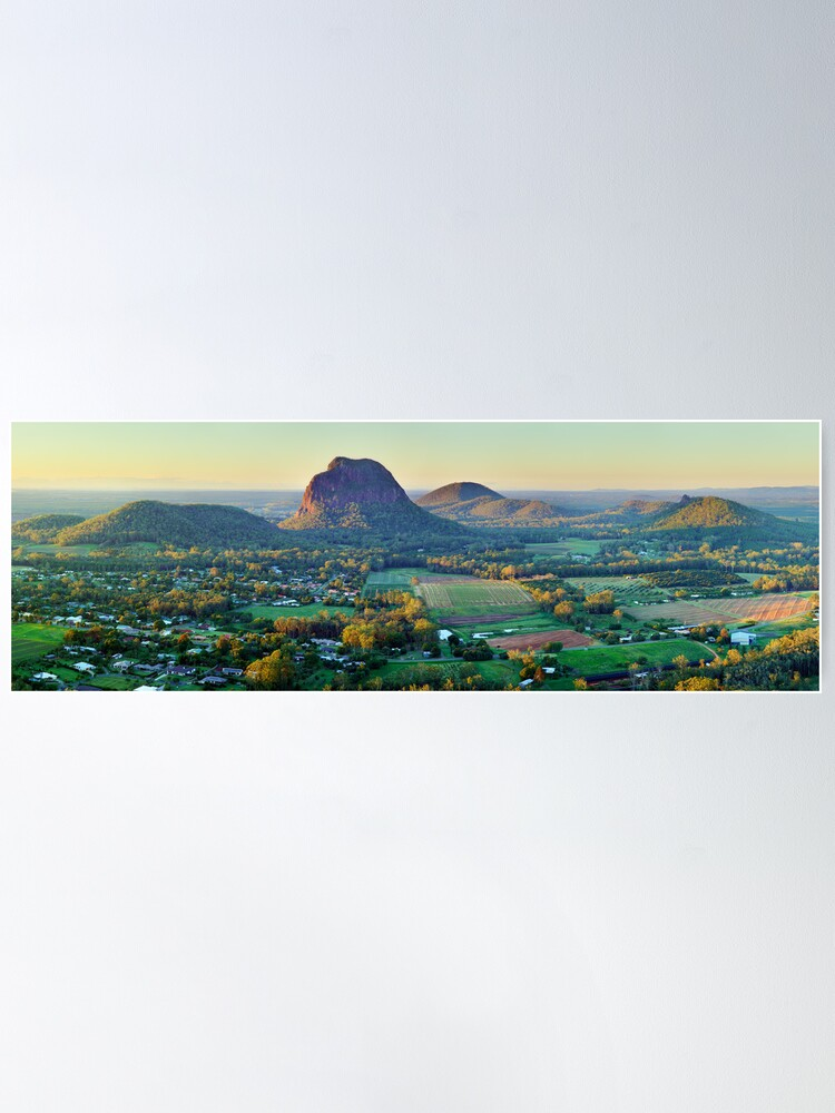 Alternate view of Glasshouse Mountains, Queensland, Australia Poster