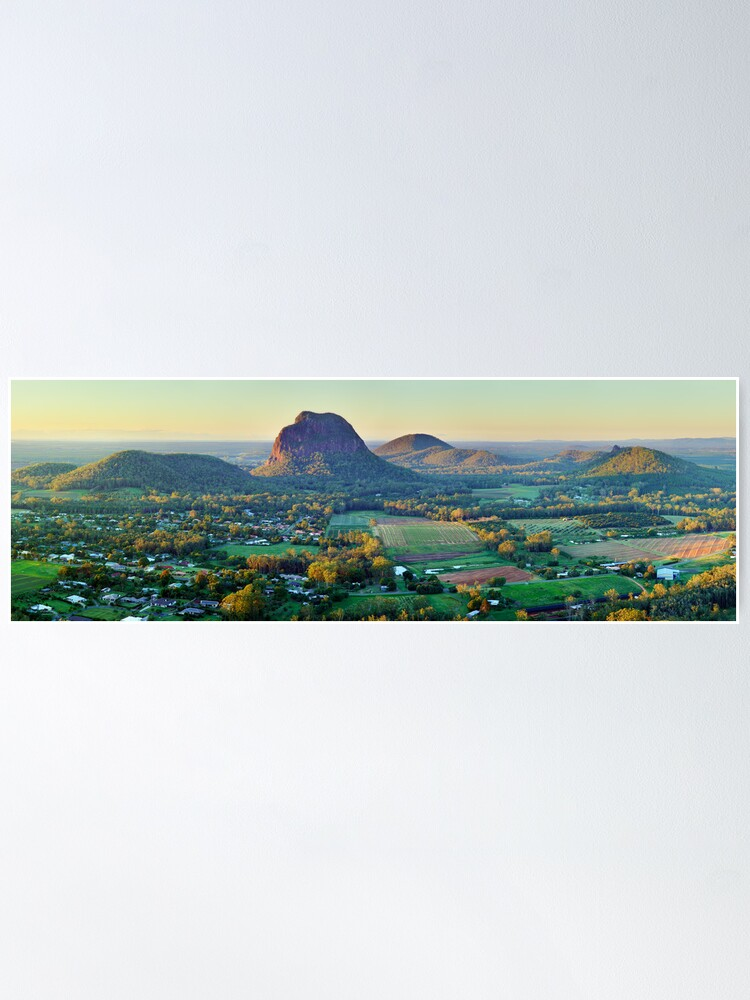 Alternate view of Glasshouse Mountains, Queensland, Australia Poster