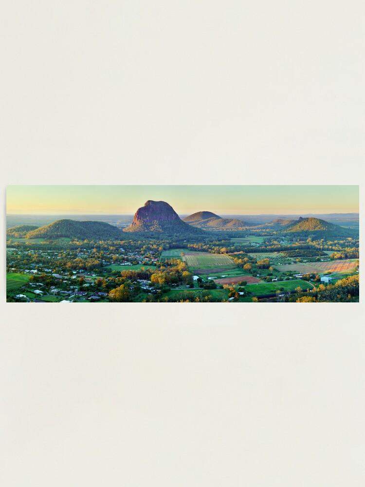 Alternate view of Glasshouse Mountains, Queensland, Australia Photographic Print