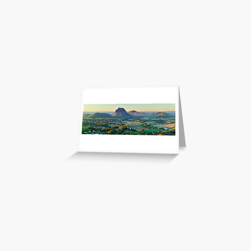Glasshouse Mountains, Queensland, Australia Greeting Card