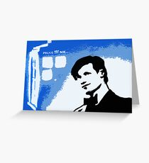 Mad Man In A Blue Box  Greeting Card
