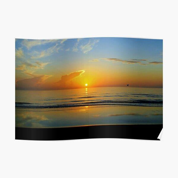 Sunrise at Flagler Beach, Florida Poster