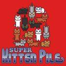 Super Kitten Pile (Logo) by vgjunk