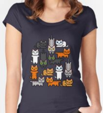 Super Kitten Pile (Just Cats) Women's Fitted Scoop T-Shirt