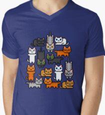 Super Kitten Pile (Just Cats) Men's V-Neck T-Shirt