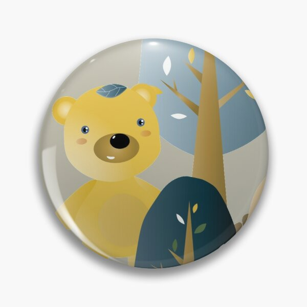 Leafbears in the woods Pin