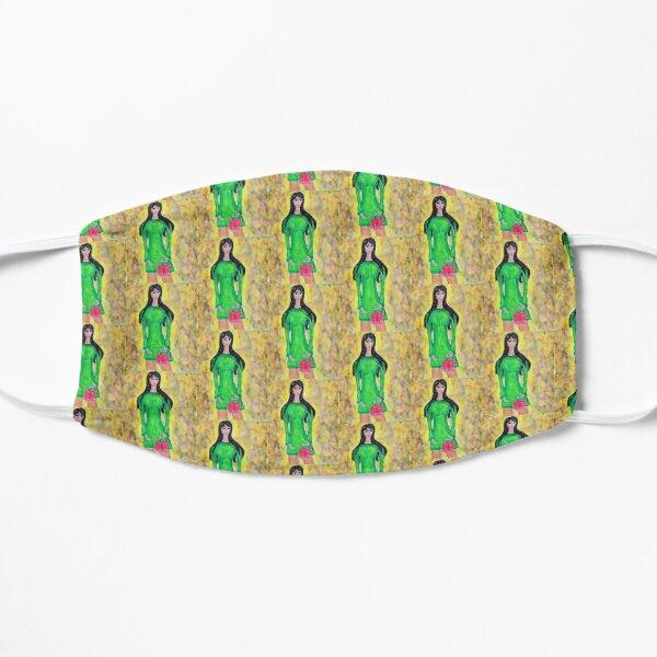 FASHION ILLUSTRATION GREEN DRESS Mask