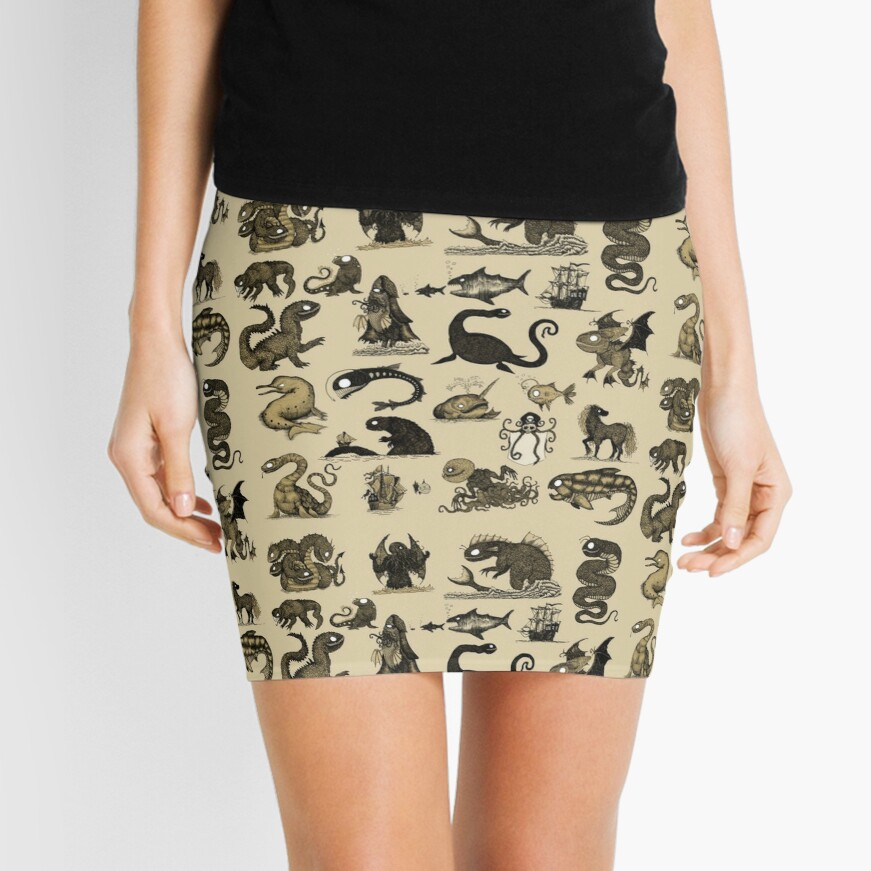 Sea Monsters Collection Mini Skirt