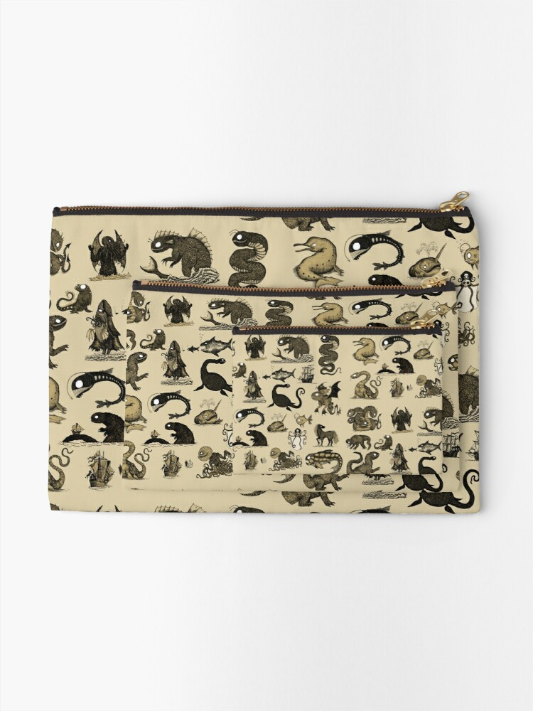 Alternate view of Sea Monsters Collection Zipper Pouch