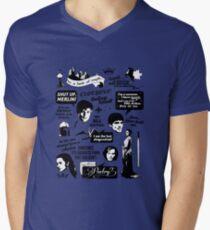 Merlin Quotes Men's V-Neck T-Shirt
