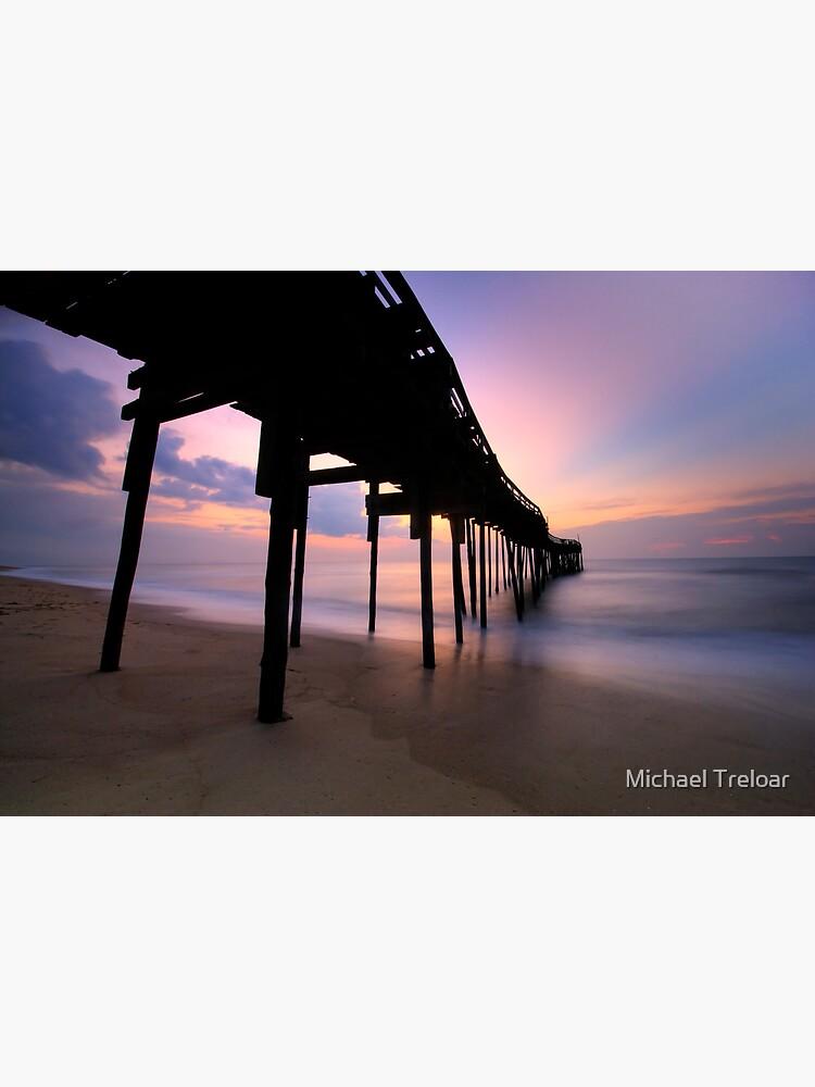 Avon Pier Sunrise, OBX by michaeltreloar