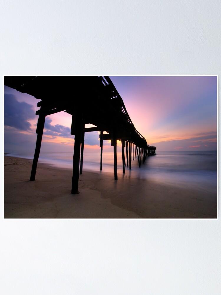 Alternate view of Avon Pier Sunrise, OBX Poster