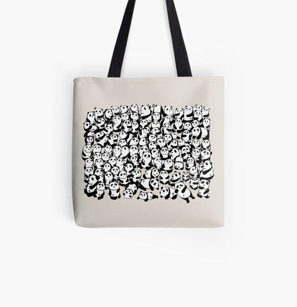 A Hundred Pandas All Over Print Tote Bag