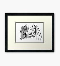Toothless doodle Framed Print