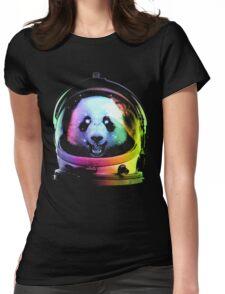 Astronaut Panda Womens Fitted T-Shirt