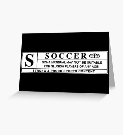 soccer warning label Greeting Card