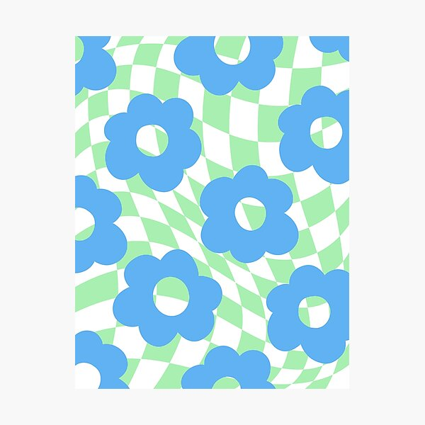 Checkered Floral Photographic Print