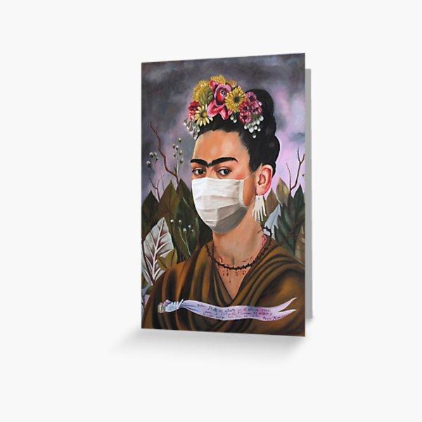 Coronavirus Frida Kahlo Greeting Card