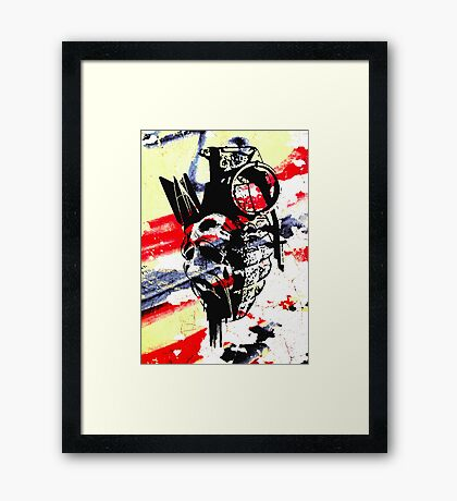 Just the thought of war makes me... Framed Print