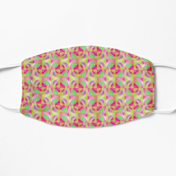 Bright Geometric Pattern on pink ground Mask