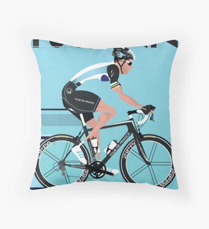 Mark Cavendish Throw Pillow