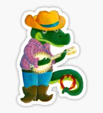The Banjo Alligator Sticker