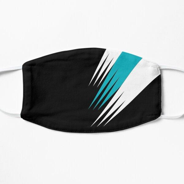 Port Adelaide colours face mask Flat Mask
