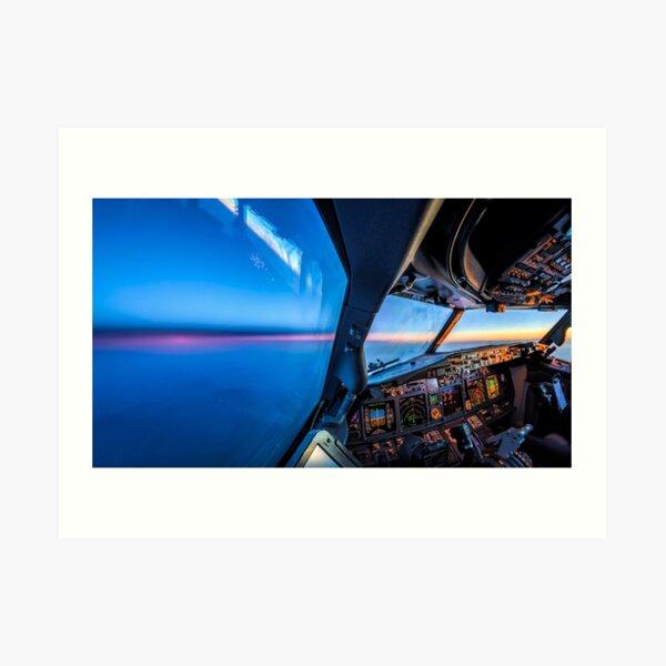 flying towards the night Art Print