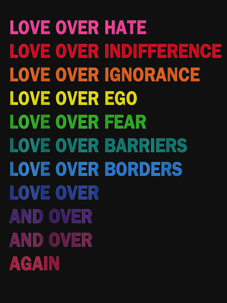 love over hate, love over indifference LGB  by ElpidiRochie