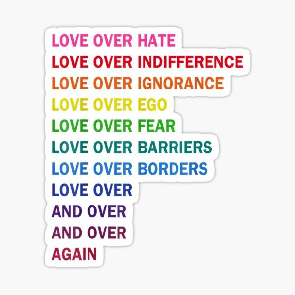 l'amour sur la haine Sticker
