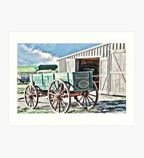 Midwest Buggy and Barn Art Print