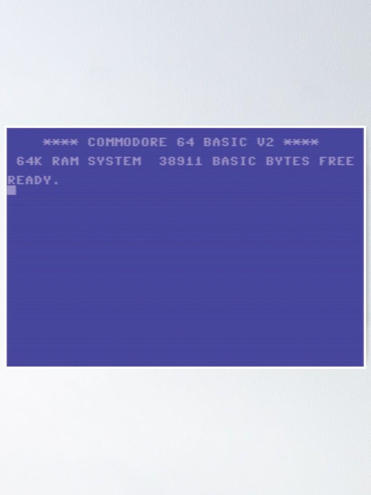 Alternative Ansicht von Back in time (C64 Edition) Poster