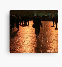 The Entrance to the Western Wall at Night Canvas Print