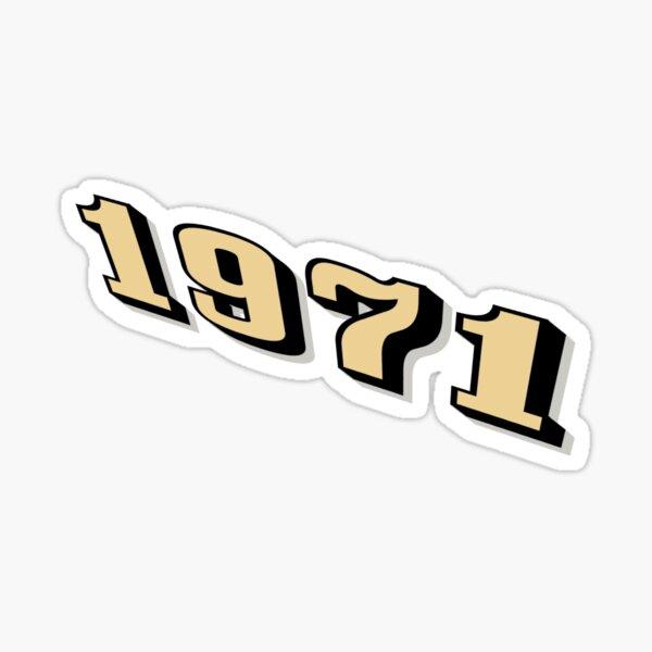 1971 year Sticker