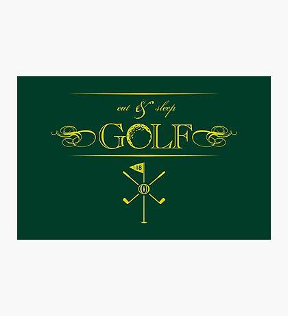 Eat, Sleep & Golf VRS2 Photographic Print