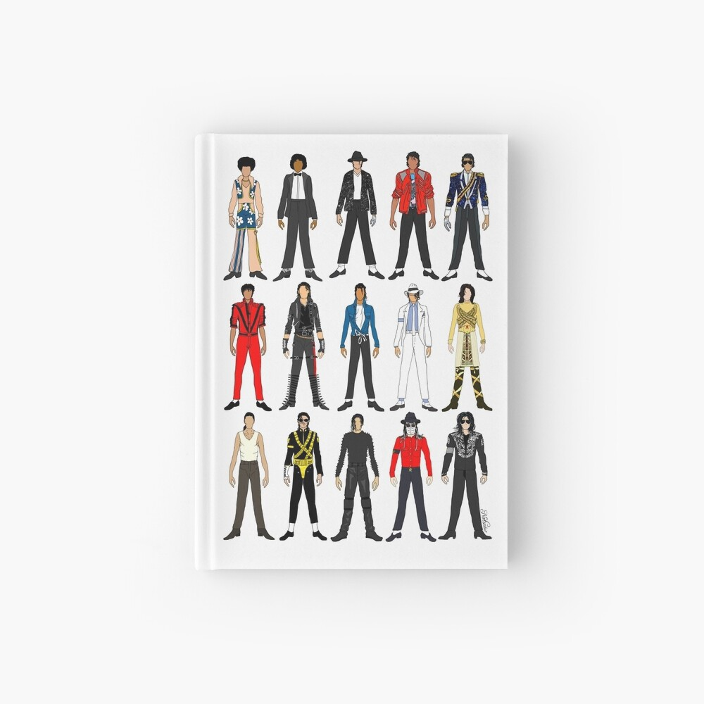 Outfits of King Jackson Pop Music Fashion Hardcover Journal