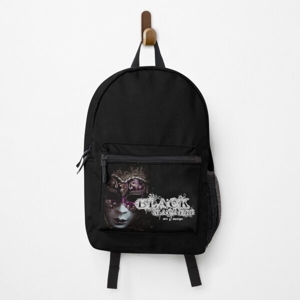 Black Macabre Round logo Backpack