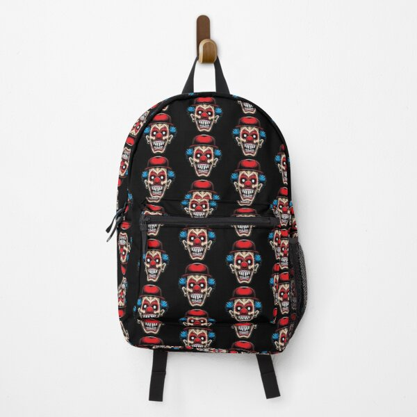 Scary Clown With Red Hat Backpack