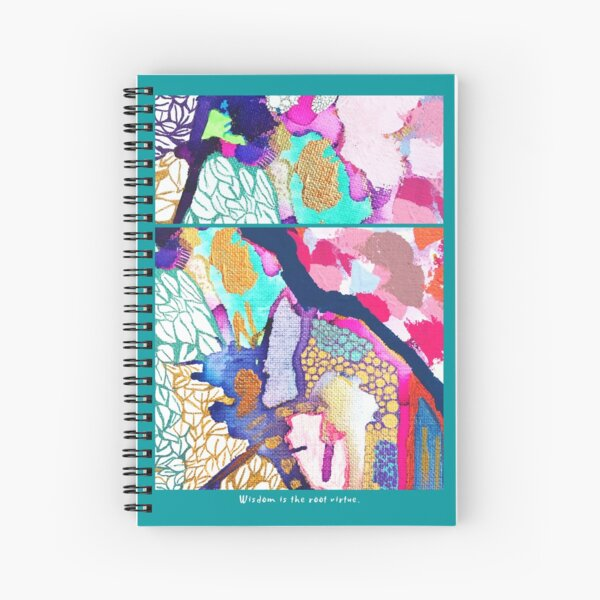 Wisdom Is The Root Virtue Spiral Notebook